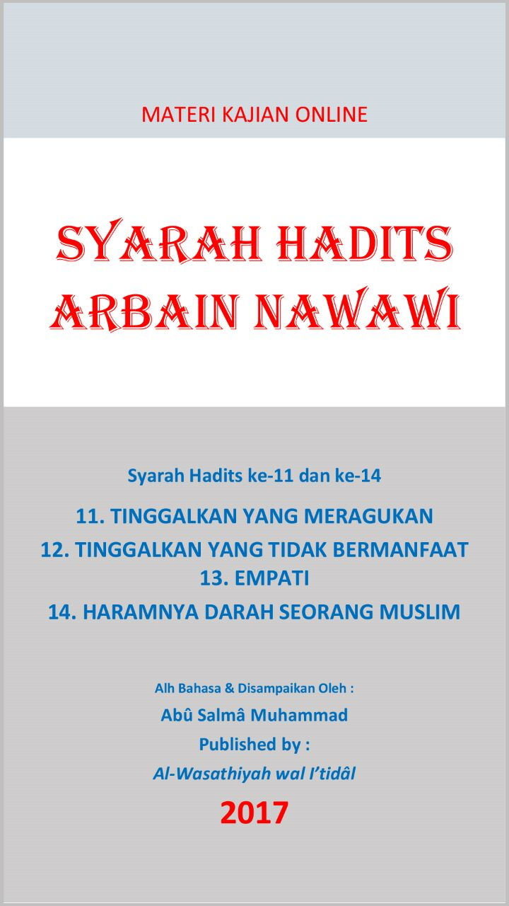 Pdf arbain syarah hadits